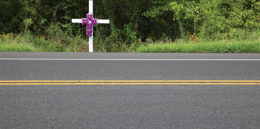 A roadside cross