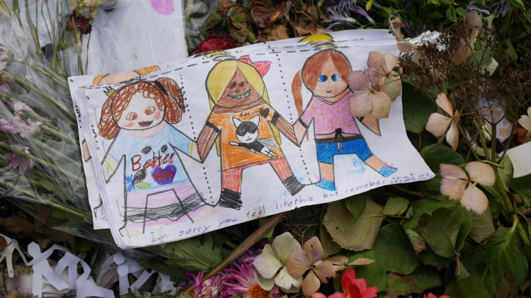 pictures and flowers for victims of chch terror attacks